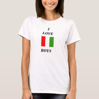 I , LOVE, italian boys spagetti strap shirt