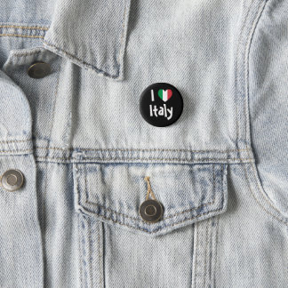I Love Italy 3 Cm Round Badge