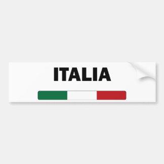 I Love Italy Car Bumper Sticker