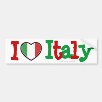 I love Italy Bumper Sticker