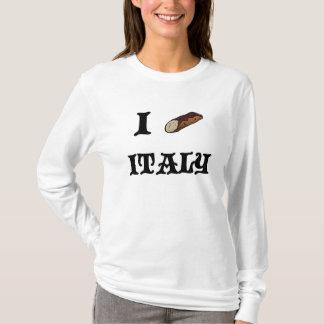 I Love Italy Cannoli Womens Long Sleeve Shirt
