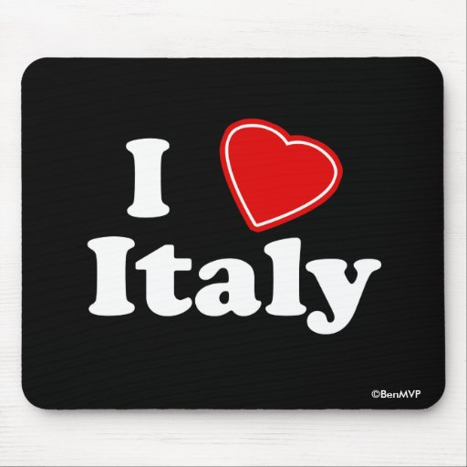 I Love Italy Mousepads
