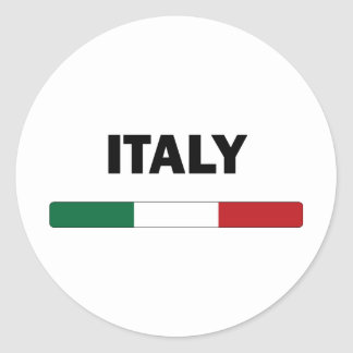 I Love Italy Round Sticker