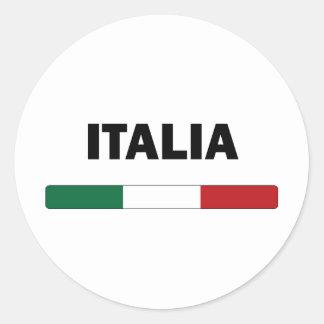 I Love Italy Round Sticker