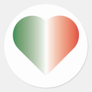 I Love Italy Round Stickers