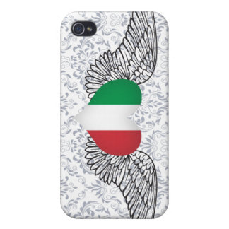 I Love Italy -wings Cases For iPhone 4