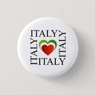 I love italy with italian flag colors 3 cm round badge