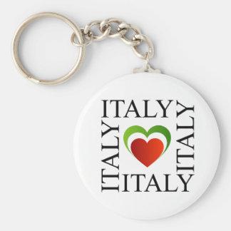 I love italy with italian flag colors key ring