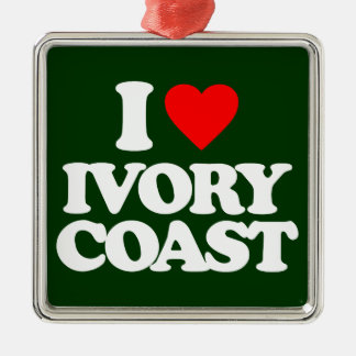 I LOVE IVORY COAST CHRISTMAS TREE ORNAMENTS