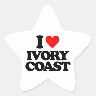 I LOVE IVORY COAST STAR STICKERS