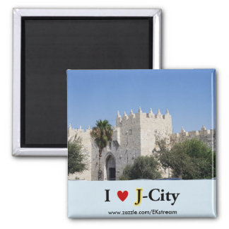 I LOVE J CITY - Damscus gate magnet