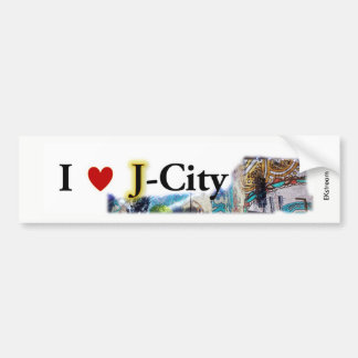 I LOVE J  (jerusalem) CITY bumper sticker