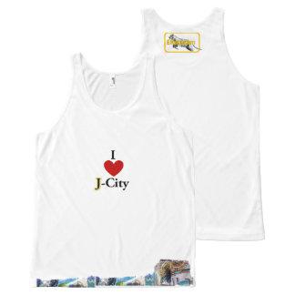 I LOVE J (jerusalem) CITY tank-top All-Over Print Singlet