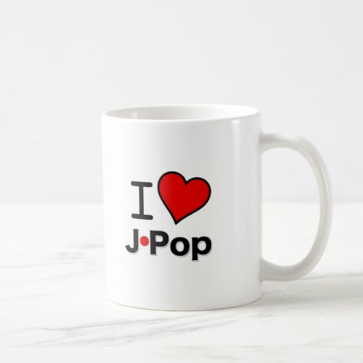 I Love J-Pop Coffee Mug