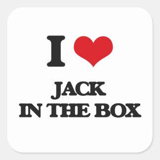I Love Jack In The Box Square Sticker
