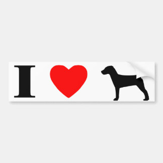 I Love Jack Russell Terriers Bumper Sticker