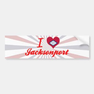 I Love Jacksonport, Arkansas Bumper Sticker