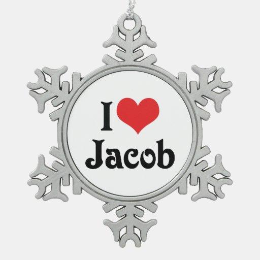 I Love Jacob Ornaments