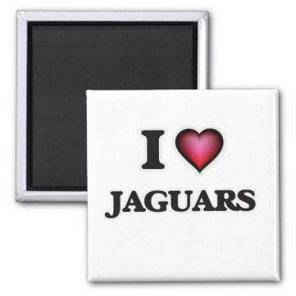 I Love Jaguars Magnet