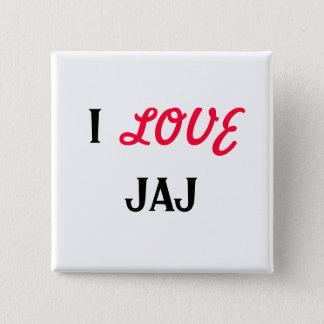 I, LOVE, JAJ 15 CM SQUARE BADGE