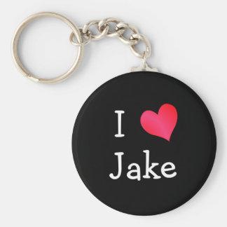 I Love Jake Basic Round Button Key Ring