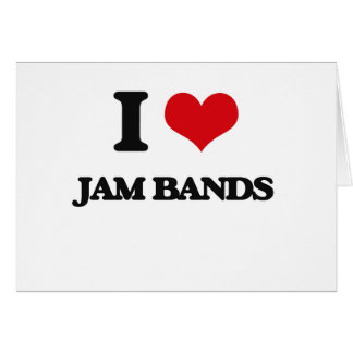 I Love JAM BANDS Cards