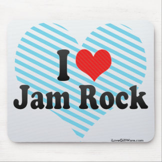 I Love Jam Rock Mouse Pads