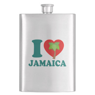 I Love Jamaica Hip Flask