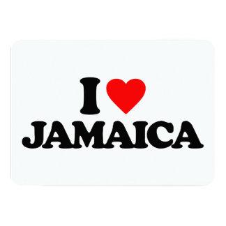 I LOVE JAMAICA CUSTOM INVITES