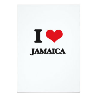 "I Love Jamaica 5"" X 7"" Invitation Card"
