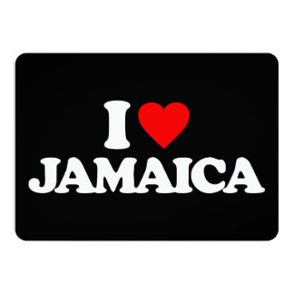 I LOVE JAMAICA PERSONALIZED INVITES