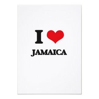 I Love Jamaica Custom Invitation