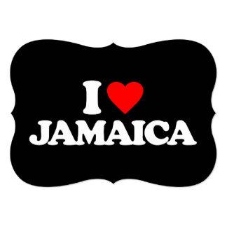 I LOVE JAMAICA 13 CM X 18 CM INVITATION CARD