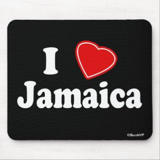 I Love Jamaica Mousepads