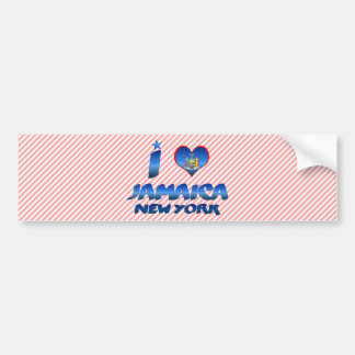 I love Jamaica, New York Bumper Sticker