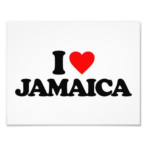 I LOVE JAMAICA PHOTO PRINT