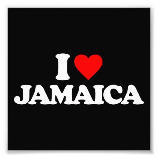 I LOVE JAMAICA PHOTO ART