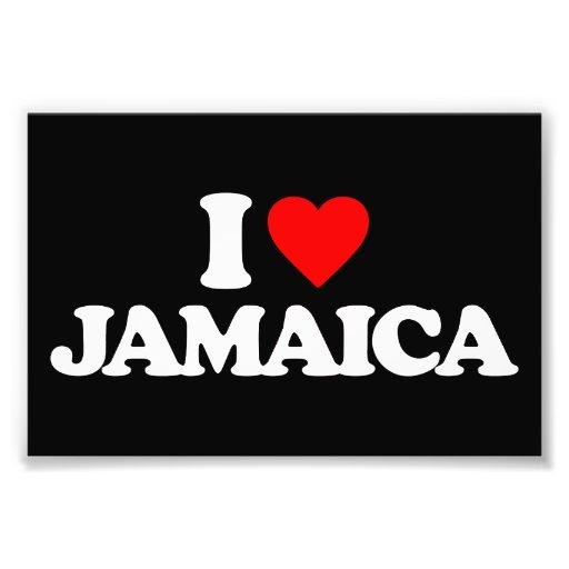 I LOVE JAMAICA PHOTOGRAPH