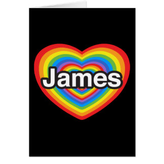 I love James. I love you James. Heart Card