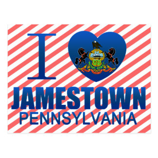 I Love Jamestown, PA Postcard