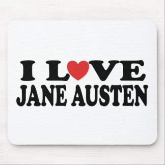 I Love Jane Austen Classic Mouse Pads