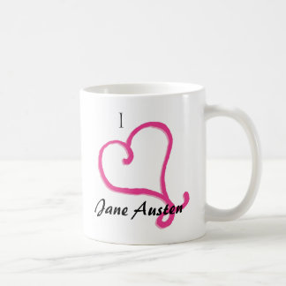 I Love Jane Austen Coffee Mug
