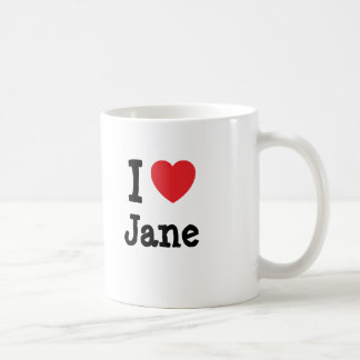 I love Jane heart T-Shirt Coffee Mugs