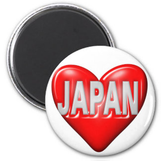 I Love Japan 6 Cm Round Magnet