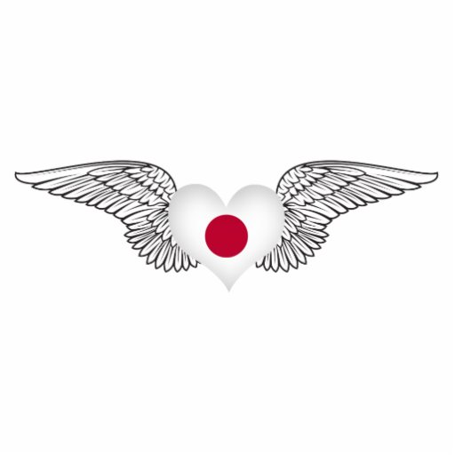 I Love Japan -wings Photo Sculptures