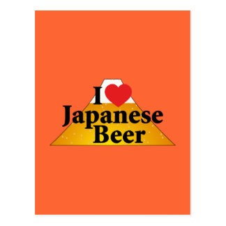 I Love Japanese Beer Postcard