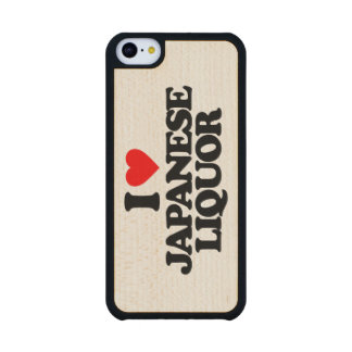 I LOVE JAPANESE LIQUOR CARVED® MAPLE iPhone 5C CASE