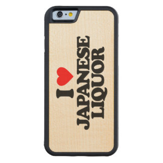 I LOVE JAPANESE LIQUOR CARVED® MAPLE iPhone 6 BUMPER CASE