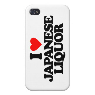 I LOVE JAPANESE LIQUOR COVER FOR iPhone 4