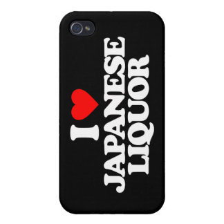 I LOVE JAPANESE LIQUOR CASE FOR iPhone 4